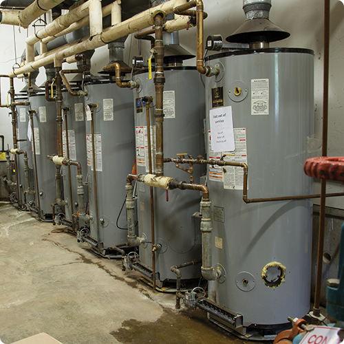 before Navien commercial tankless water heaters