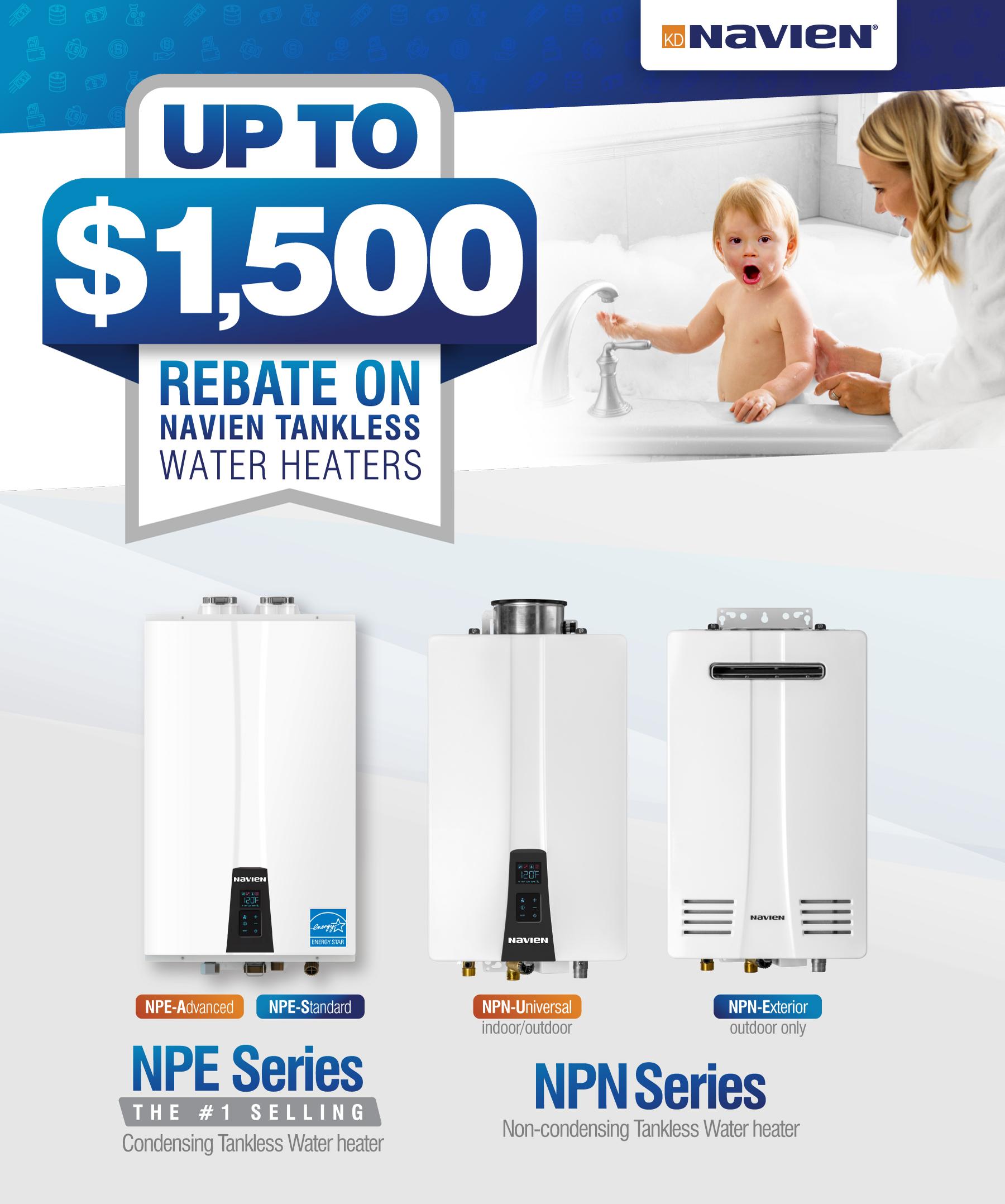 SoCalGas Navien Tankless Water Heaters Rebate