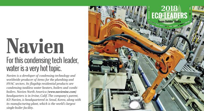 Navien chosen as eco-leader
